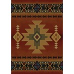 Arizona Crimson Western Rug