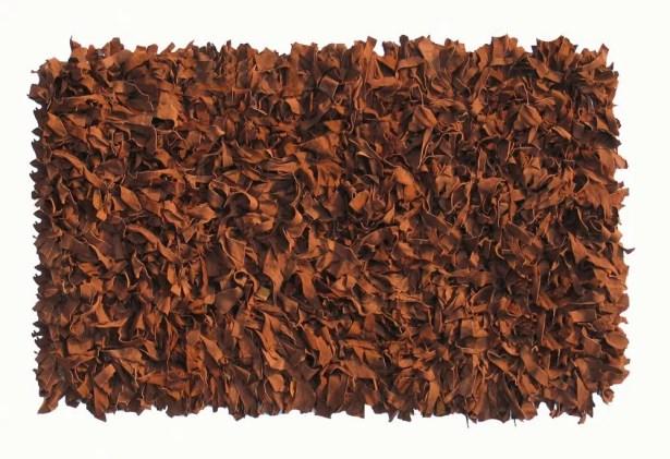 Thalassa Premium Leather Brown Rug Rug Size: Runner 2' x 7'6