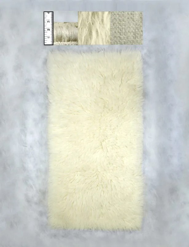 Hera Flokati Heavy Natural White Solid Rug Rug Size: Rectangle 9' x 12'