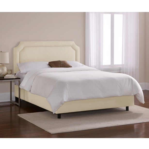 Chambers Upholstered Panel Bed Color: Navy, Size: California King