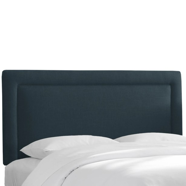 Chambers Upholstered Panel Headboard Upholstery: Navy, Size: King