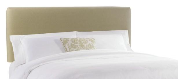 Slip Cover Upholstered Panel Headboard Color: Sandstone, Size: Full