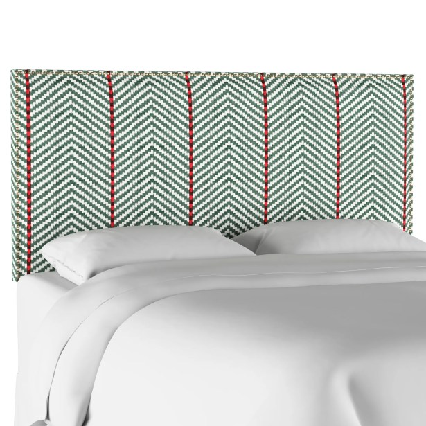 Boggs Modern Nail Button Border Upholstered Panel Headboard Size: California King