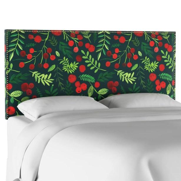 Boles Nail Button Border Upholstered Panel Headboard Size: Queen