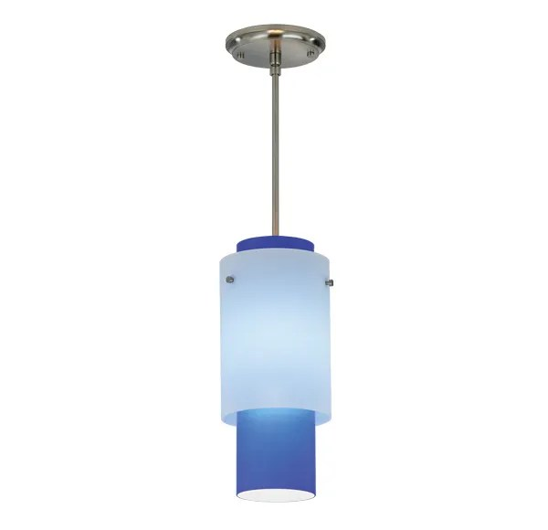 Double-Up Pendant Finish Frame / Bulb Type: Polished Nickel / Incandescent, Mounting: White Cord