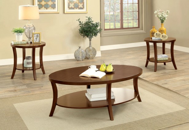 Ohlman Transitional 3 Piece Coffee Table Set