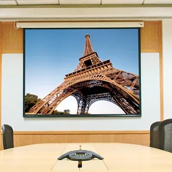 Baronet White Electric Projection Screen Size/Format: 85