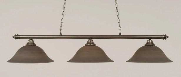 Mendez 3-Light Billiard Light Shade Color: Gray, Finish: Brushed Nickel