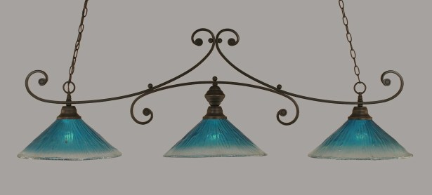 Babin 3-Light Billiard Light Shade Color: Kiwi Green, Color: Dark Granite
