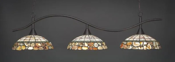 Demi 3-Light Kitchen Island Pendant Base Finish: Dark granite
