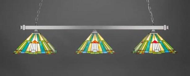 Dynamite 3-Light Billiard Pendant Base Finish: Brushed Nickel