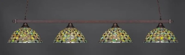 Bierce 4-Light Billiard Pendant Base Finish: Bronze
