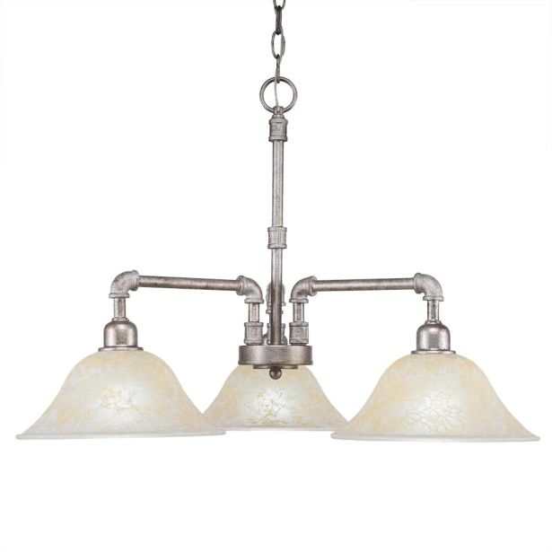 Canby 3-Light Shaded Chandelier Finish: Aged Silver