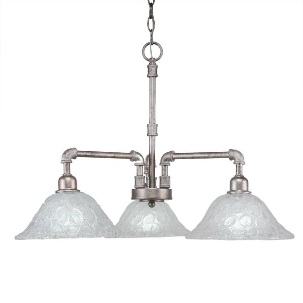 Cambon 3-Light Shaded Chandelier Finish: Aged Silver