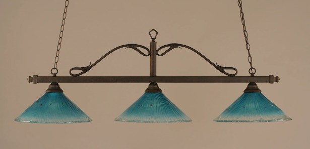 Reba 3-Light Billiard Light Color: Bronze, Shade: 16
