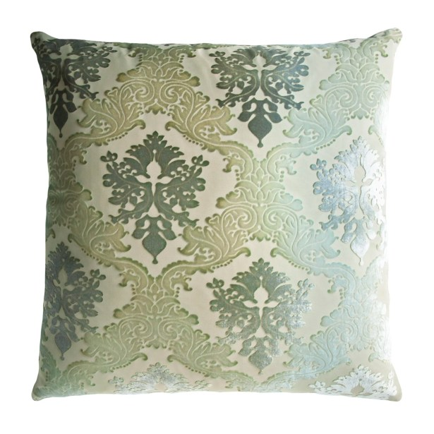 Brocade Velvet Pillow Color: Dusk, Size: 20'' H x 20'' W x 4'' D