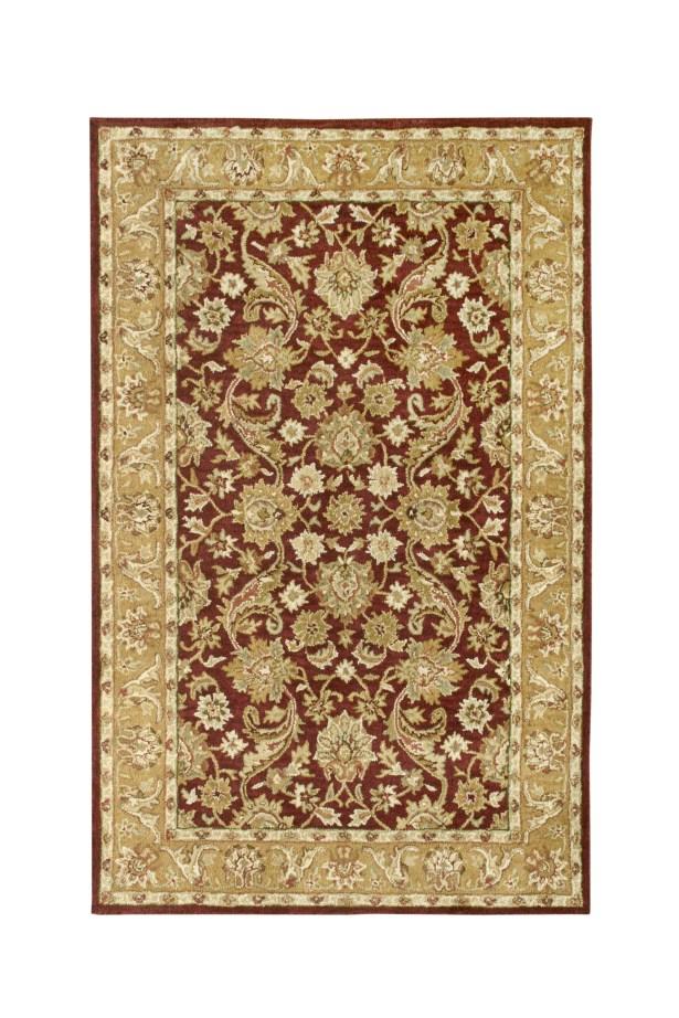 Harmony Burgundy/Gold Floral Area Rug Rug Size: Runner 2'3