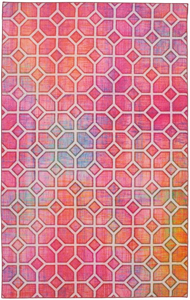 Tenafly Trellis Kaleidoscope Pink Area Rug Rug Size: Rectangle 5' x 8'