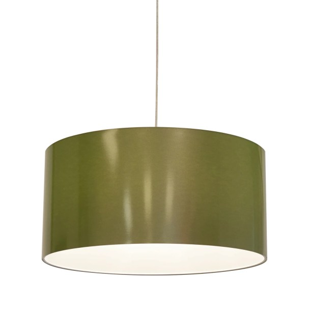 Metallic Vinyl Drum Pendant Shade Size: 12