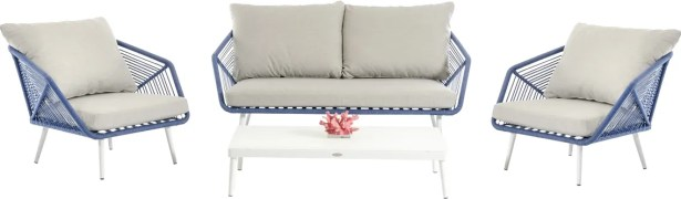 Brody 4 Piece Sofa Set with Cushions