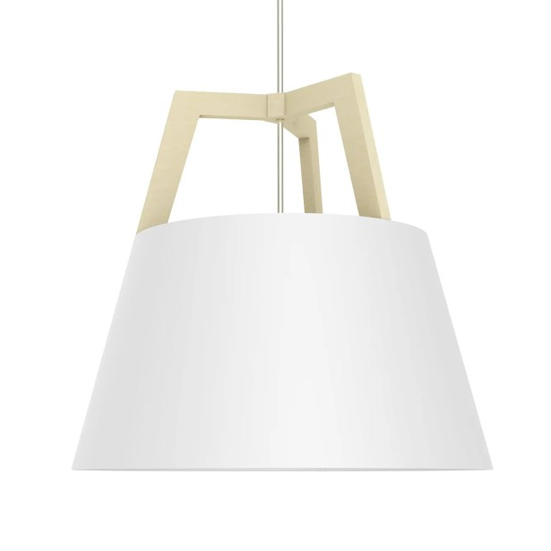 Imber 1-Light  LED Cone Pendant Finish: Maple/Gloss White, Size: 22