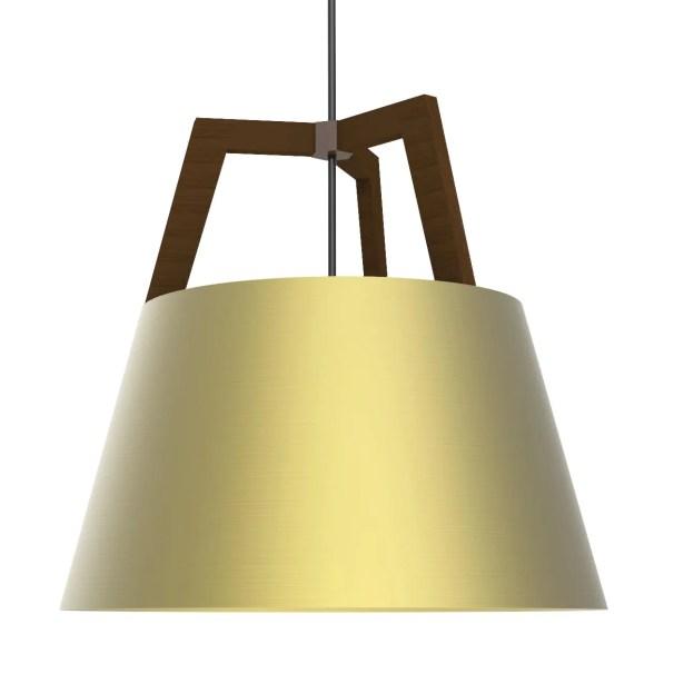 Imber 1-Light Cone Pendant Finish: Oiled Walnut/Brushed Brass