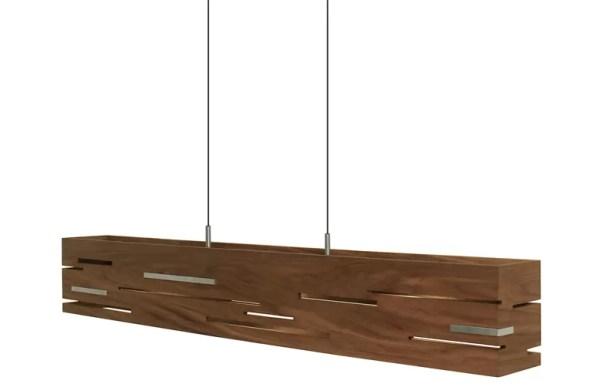 Aeris 5-Light Kitchen Island Pendant Wood Finish: Oiled Walnut, Size: 54
