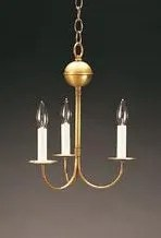 3-Light Candle Style Chandelier Finish: Antique Brass