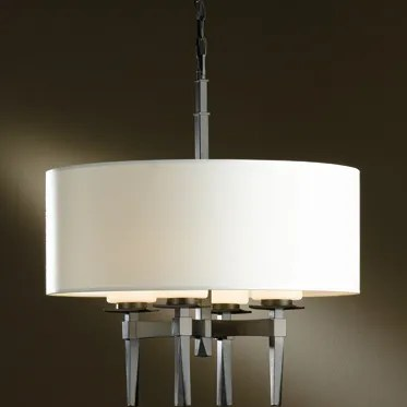 Beacon Hall 4-Light Chandelier Finish: Translucent Mahogany, Shade: Doeskin Micro-Suede