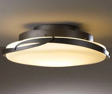 Flora 1-Light LED Semi Flush Mount Finish: Burnished Steel