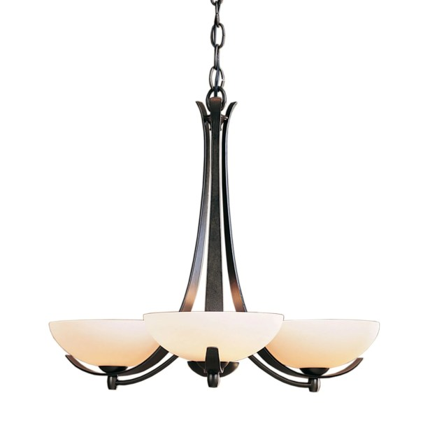 Aegis 3-Light Shaded Chandelier Finish: Natural lron, Shade Color: Stone