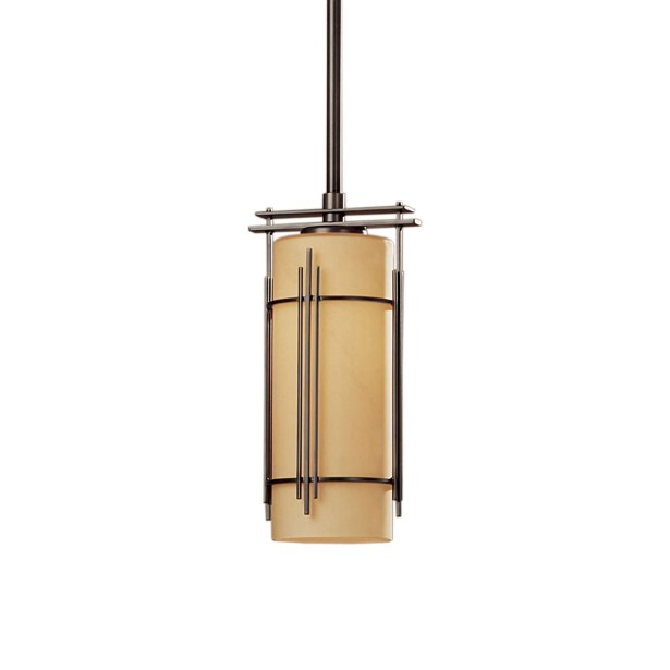 Paralline 1-Light Cylinder Pendant Finish: Translucent Mahogany, Glass: Pearl