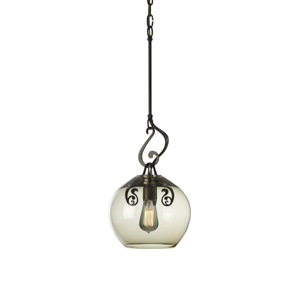 Lure 1-Light Globe Pendant Shade Color: Warm Gray, Finish: Black