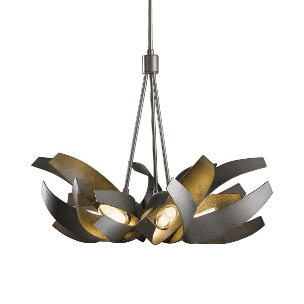 Corona 6-Light Novelty Chandelier Finish: Translucent Burnished Steel, Stem Length: 47.9 to 69.6
