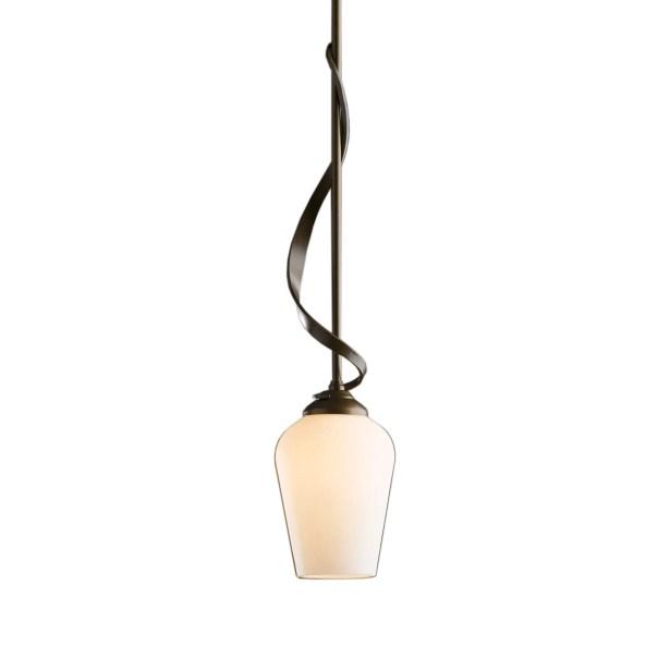 Flora 1-Light Cone Pendant Glass: Pearl, Finish: Translucent Dark Smoke