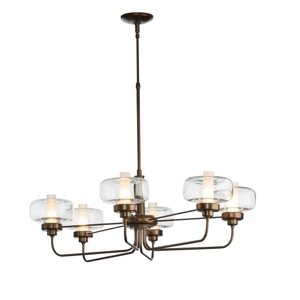 New Traditional Nola 6-Light Shaded Chandelier Height: 30.3
