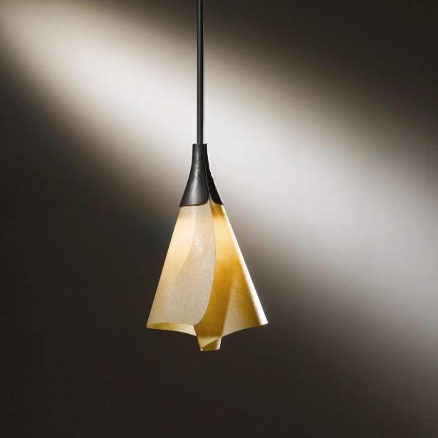 Mobius 1-Light Cone Pendant Shade: Spun Amber, Finish: Translucent Dark Smoke