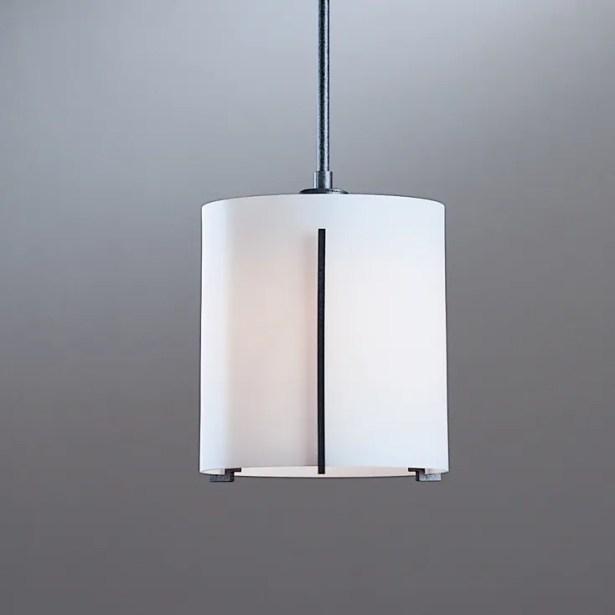 Exos 1-Light Pendant Glass: Stone, Finish: Translucent Bronze