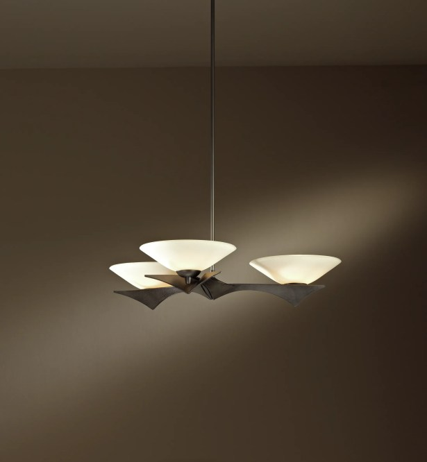 Moreau 3-Light Bowl Pendant Glass Type: Sand Glass, Stem Length: 23.7