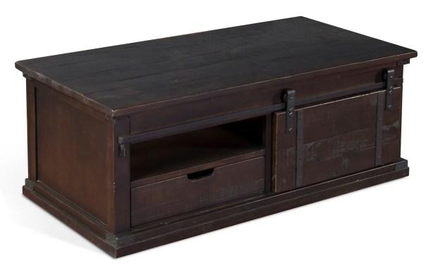 Howden Barn Door Coffee Table Color: Charred Oak