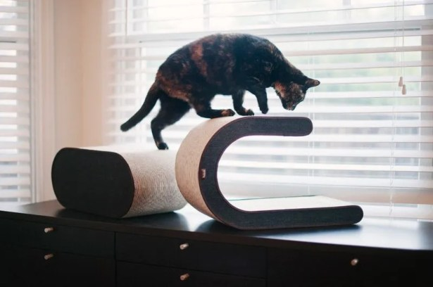 Corinne Arty Recycled Paper Cat Scratcher Board Color: Brown