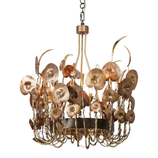 Lilium Mini Chandelier Finish: Antique Brass
