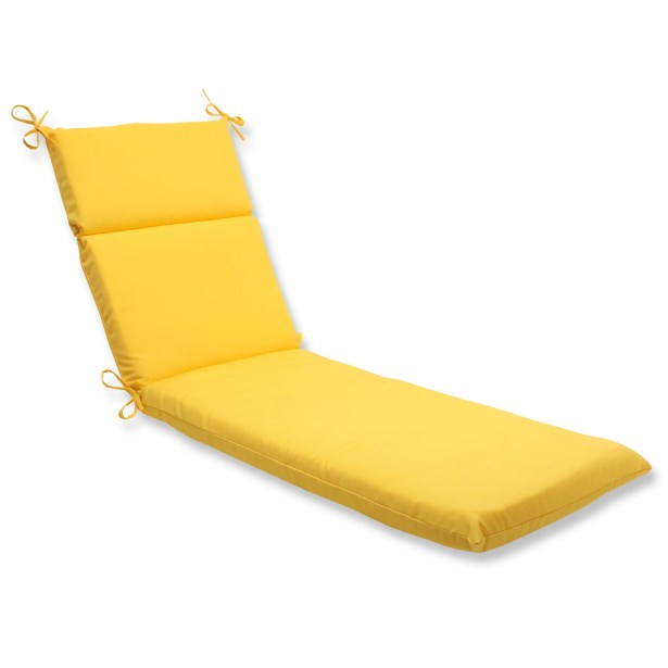 Fresco Indoor/Outdoor Chaise Lounge Cushion Fabric: Yellow