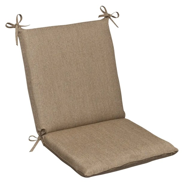 Indoor/Outdoor Sunbrella Dining Chair Cushion Color: Tan Textured Solid