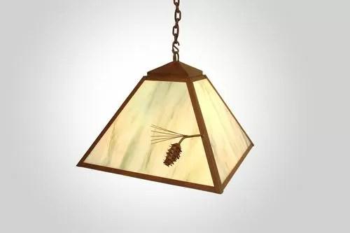 Ponderosa Pine 1-Light Dome Pendant Finish: Rust, Shade / Lens: Amber Mica