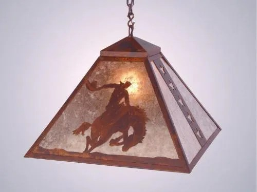 8 Seconds 1-Light Dome Pendant Finish: Architectural Bronze, Shade / Lens: Amber Mica