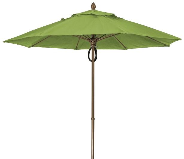 Prestige 9' Market Umbrella Frame Finish: Champagne Bronze, Fabric: Palm