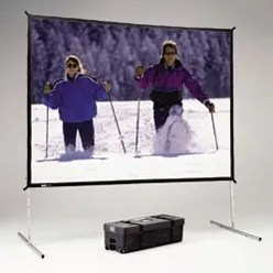 Fast Fold Deluxe Portable Projection Screen Viewing Area: 121