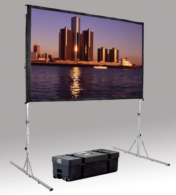 Fast Fold Deluxe Portable Projection Screen Viewing Area: 96