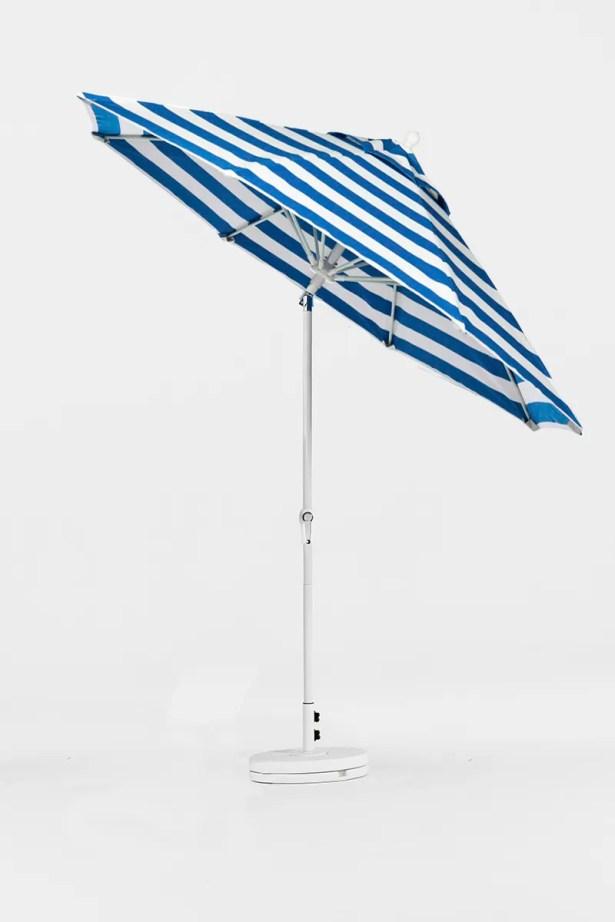 9' Market Umbrella Finish: Black, Color: Red & White Stripe